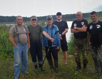 Sprzątanie łowiska na półwyspie Skoki 20-21.07.2019